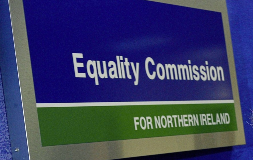 Image shows the Equality Commission logo
